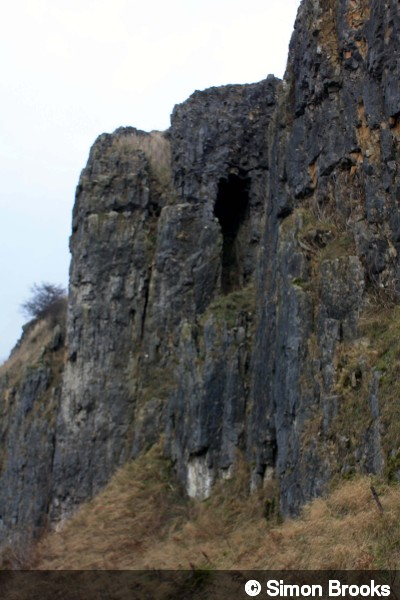 Entrance of Great Rocks Dale (North) Quarry Cave